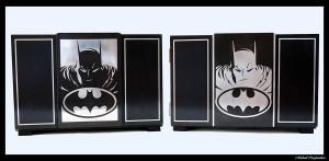 Paire de coffret sur le thème de Batman